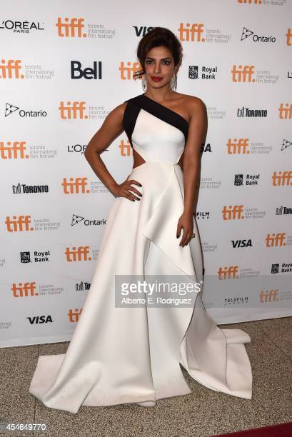 Actress Priyanka Chopra attends the Mary Kom premiere during the 2014 Toronto International Film Festival at The Elgin on September 4 2014 in Toronto...