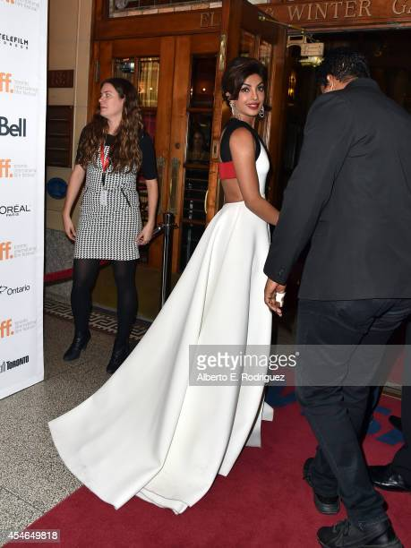 Actress Priyanka Chopra attends the 'Mary Kom' premiere during the 2014 Toronto International Film Festival at The Elgin on September 4 2014 in...