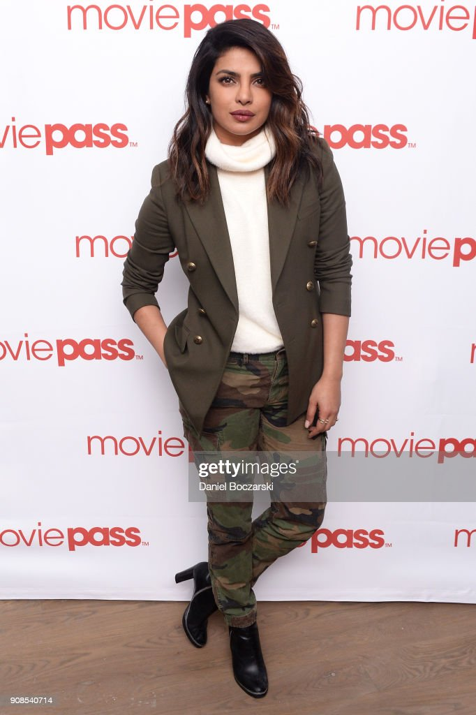Actress Priyanka Chopra attends the MoviePass House Park City during Sundance 2018 on January 21, 2018 in Park City, Utah.