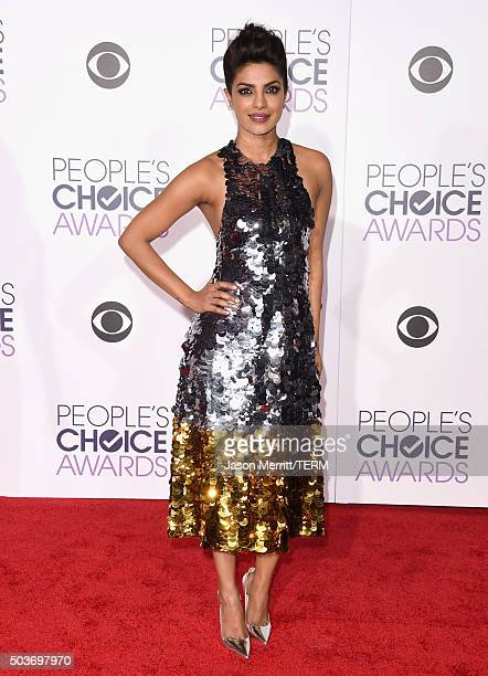 Actress Priyanka Chopra attends the People's Choice Awards 2016 at Microsoft Theater on January 6 2016 in Los Angeles California