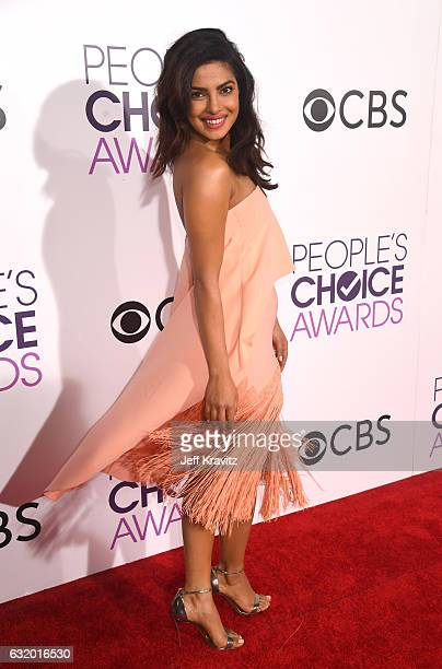 Actress Priyanka Chopra attends the People's Choice Awards 2017 at Microsoft Theater on January 18 2017 in Los Angeles California