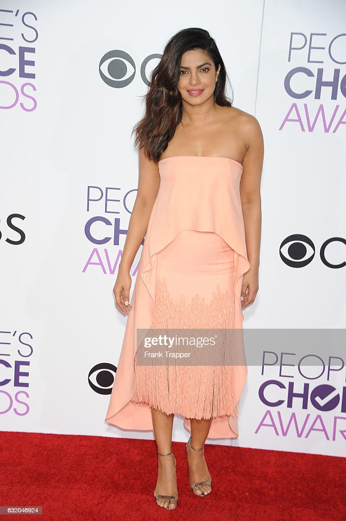 Actress Priyanka Chopra attends the People's Choice Awards 2017 at Microsoft Theater on January 18, 2017 in Los Angeles, California.