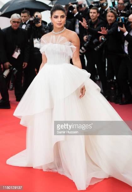 "Actress Priyanka Chopra attends the screening of ""Les Plus Belles Annees D'Une Vie"" during the 72nd annual Cannes Film Festival on May 18, 2019 in..."
