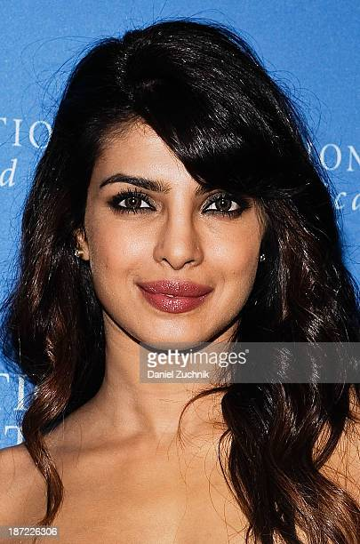 Actress Priyanka Chopra attends the United Nations Foundation Global Leadership Dinner at Gotham Hall on November 6th 2013 in New York City