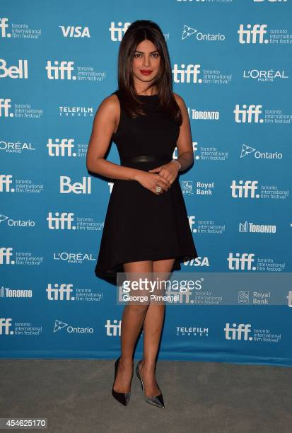 Actress Priyanka Chopra attends the'Mary Kom' Press Conference during the 2014 Toronto International Film Festival at TIFF Bell Lightbox on September...