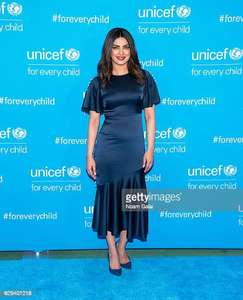 Actress Priyanka Chopra attends UNICEF's 70th anniversary event at United Nations Headquarters on December 12 2016 in New York City