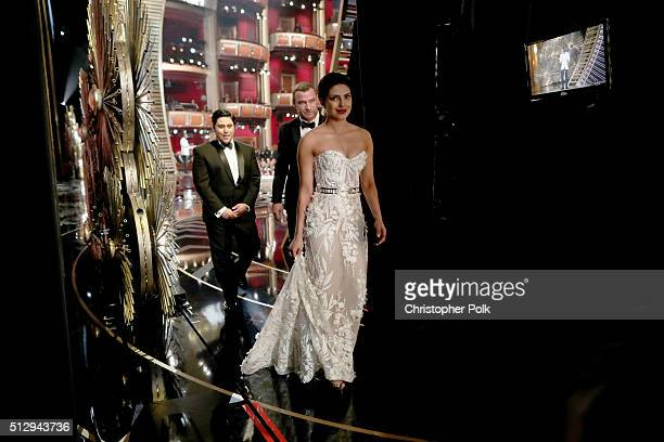 Actress Priyanka Chopra backstage at the 88th Annual Academy Awards at Dolby Theatre on February 28 2016 in Hollywood California