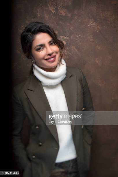 Actress Priyanka Chopra from the film 'A Kid Like Jake' is photographed for Los Angeles Times on January 21 2018 in the LA Times Studio at Chase...