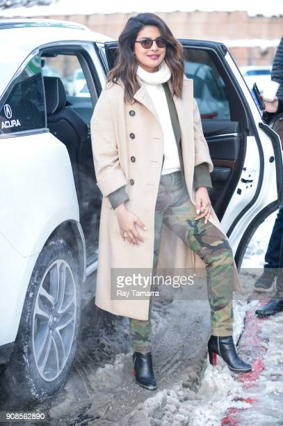 Actress Priyanka Chopra is seen on January 21 2018 in Park City Utah