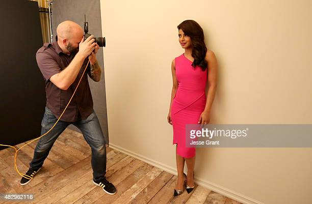 Actress Priyanka Chopra of ABC's 'Quantico' attends the Getty Images Portrait Studio powered by Samsung Galaxy at 2015 Summer TCA's at The Beverly...