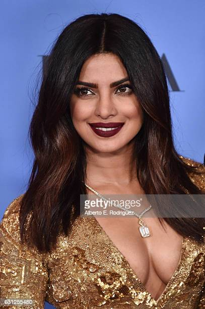 Actress Priyanka Chopra poses in the press room during the 74th Annual Golden Globe Awards at The Beverly Hilton Hotel on January 8, 2017 in Beverly...