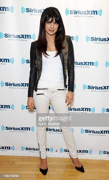 Actress Priyanka Chopra visits the SiriusXM Studios on August 12 2013 in New York City