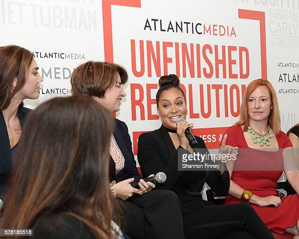 Actress, Producer and Author La La Anthony speaking at the Atlantic Media breakfast on women, fairness and power on April 30, 2016 in Washington, DC...