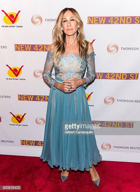 Actress producer and designer Sarah Jessica Parker attends The New 42nd Street 25th Anniversary Gala at New 42 Street Studios on April 11 2016 in New...