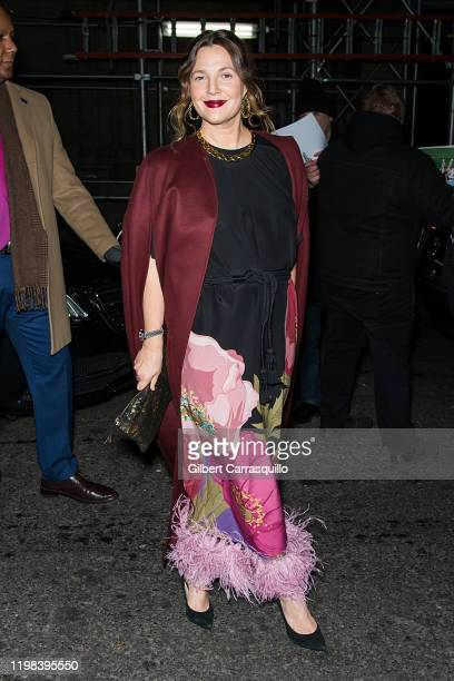 Actress, producer and director Drew Barrymore is seen leaving the 2020 National Board Of Review Gala at Cipriani 42nd Street on January 08, 2020 in...