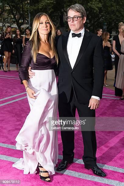 Actress producer designer Sarah Jessica Parker and actor Matthew Broderick attend the New York City Ballet 2016 Fall Gala at David H Koch Theater at...