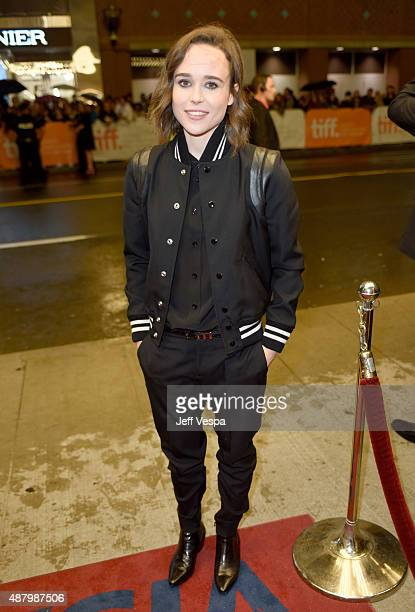 Actress Producer Ellen Page attends the 'Into the Forest' premiere during the 2015 Toronto International Film Festival at the Winter Garden Theatre...