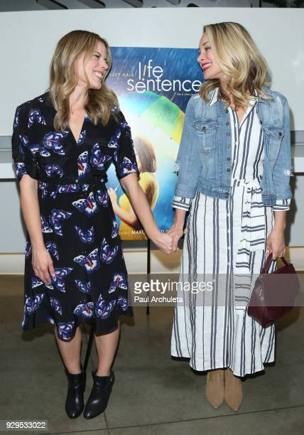 Actress / Producer Erin Cardillo and Actress Alyshia Ochse attend the screening for the CW's 'Life Sentence' at The Downtown Independent on March 7...