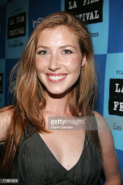 Actress/ producer Katherine Flynn arrives at the Los Angeles Film Festival premiere Of the The Beach Party At The Threshold Of Hell held at the Crest...