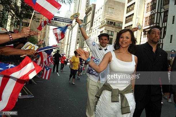 Actress producer Rosie Perez walks in the Puerto Rican Day Parade June 11 2006 in New York City The Puerto Rican Day Parade in New York City began in...