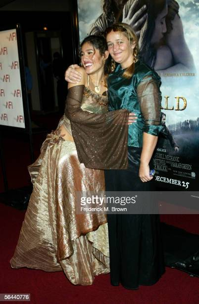 Actress Q'Orianka Kilcher and her mother Saskia Kilcher arrive at the New Line Cinema premiere of The New World presented by AFI held at the Academy...