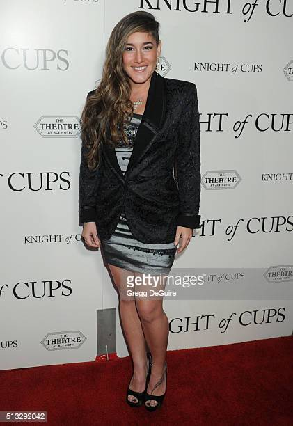 Actress Q'orianka Kilcher arrives at the premiere of Broad Green Pictures' 'Knight Of Cups' on March 1 2016 in Los Angeles California