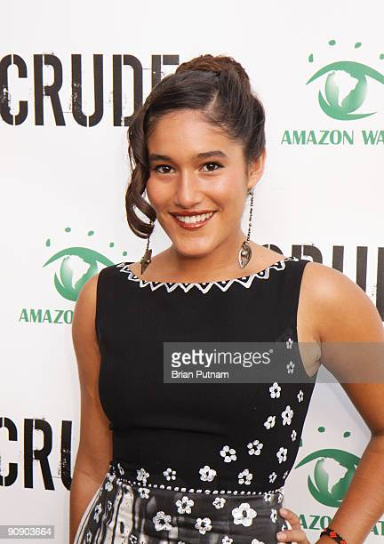 Actress Q'Orianka Kilcher arrives for the screening of the film 'CRUDE' at Harmony Gold Theatre on September 17 2009 in Los Angeles California