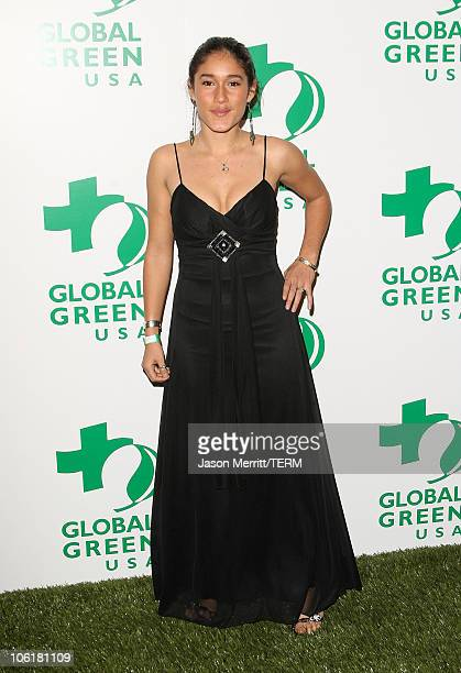 Actress Q'orianka Kilcher attends Global Green USA's 5th Annual Pre Oscar Party at Avalon Hollywood on February 20 2008 in Los Angeles California