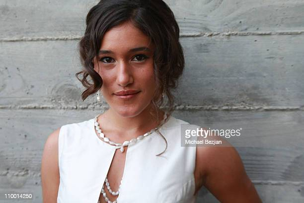 Actress Q'orianka Kilcher attends Hollywood Life's 11th Annual Young Hollywood Awards cocktail party at The Eli and Edythe Broad Stage on June 7 2009...