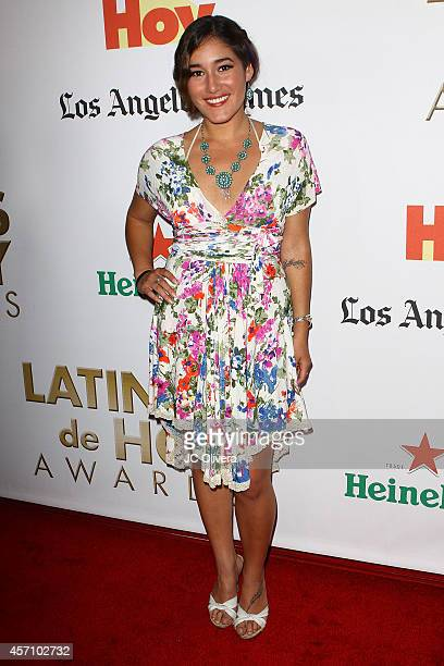 Actress Q'orianka Kilcher attends Latinos De Hoy Awards at The Los Angeles Times Chandler Auditorium on October 11 2014 in Los Angeles California