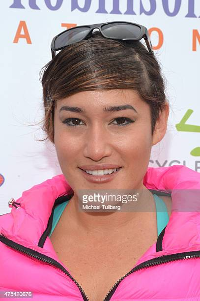 Actress Q'orianka Kilcher attends the 5th Annual Pedal On The Pier charity event benefiting Los Angeles disadvantaged youth at Santa Monica Pier on...