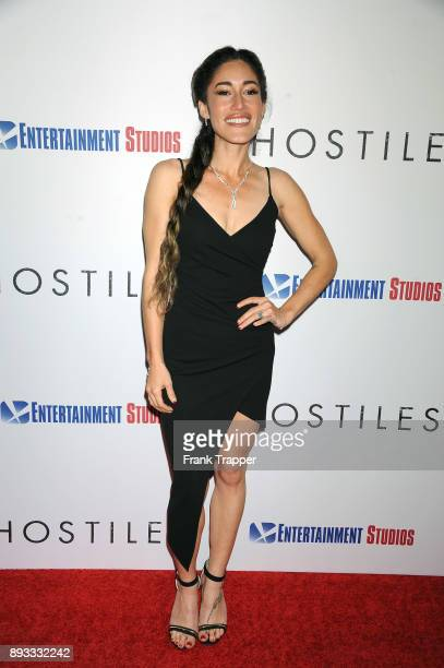 Actress Q'orianka Kilcher attends the premiere of Entertainment Studios Motion Pictures' 'Hostiles' held at the Samuel Goldwyn Theater on December 14...