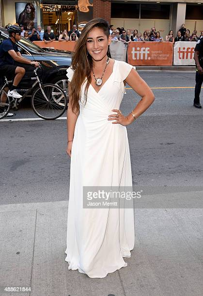Actress Q'orianka Kilcher attends the Sky photo call during the 2015 Toronto International Film Festival at The Elgin on September 16 2015 in Toronto...