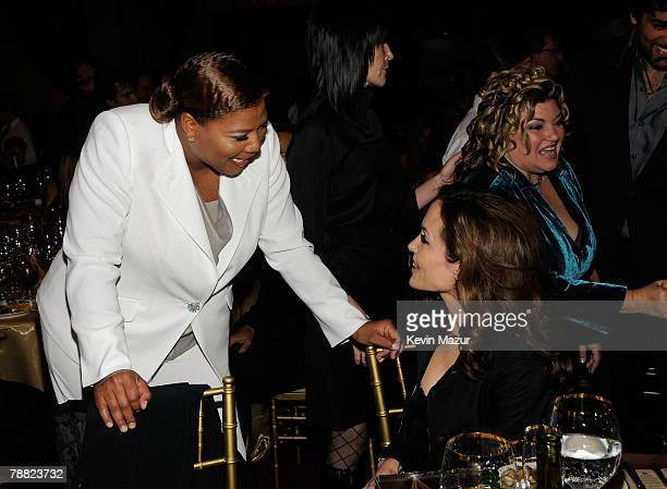 Actress Queen Latifah and Actress Angelina Jolie inside at the 13th ANNUAL CRITICS' CHOICE AWARDS at the Santa Monica Civic Auditorium on January 7,...