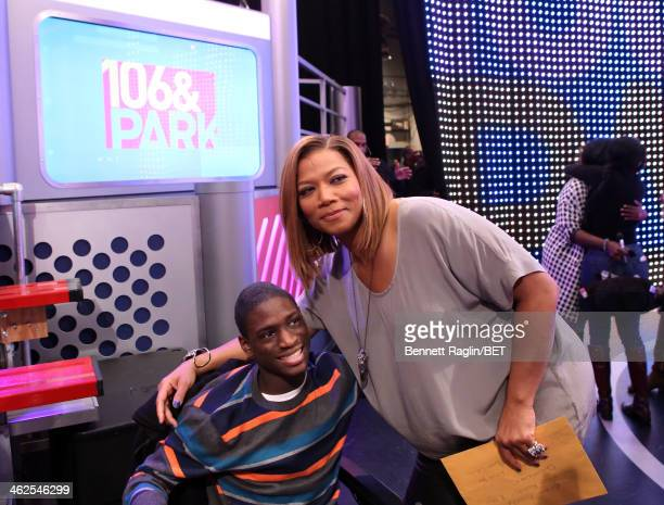 Actress Queen Latifah and author Atiba Clarke visits 106 Park at BET studio on January 13 2014 in New York City