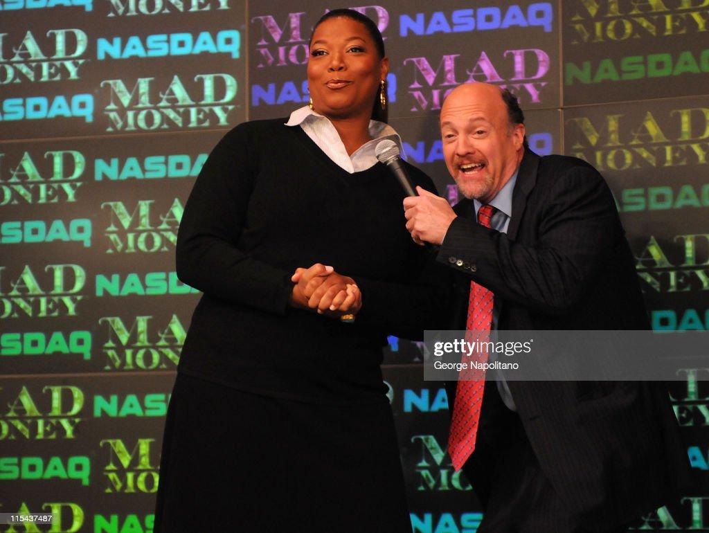 Diane Keaton, Queen Latifah and Katie Holmes Ring NASDAQ Opening Bell : News Photo