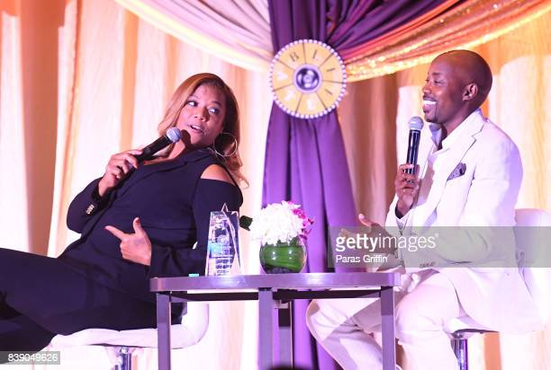 Actress Queen Latifah and Will Packer onstage at 2017 BronzeLens Film Festival Women SuperStars Luncheon at Westin Peachtree Plaza on August 25 2017...