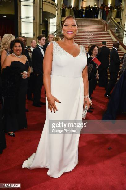 Actress Queen Latifah arrive at the Oscars at Hollywood Highland Center on February 24 2013 in Hollywood California at Hollywood Highland Center on...