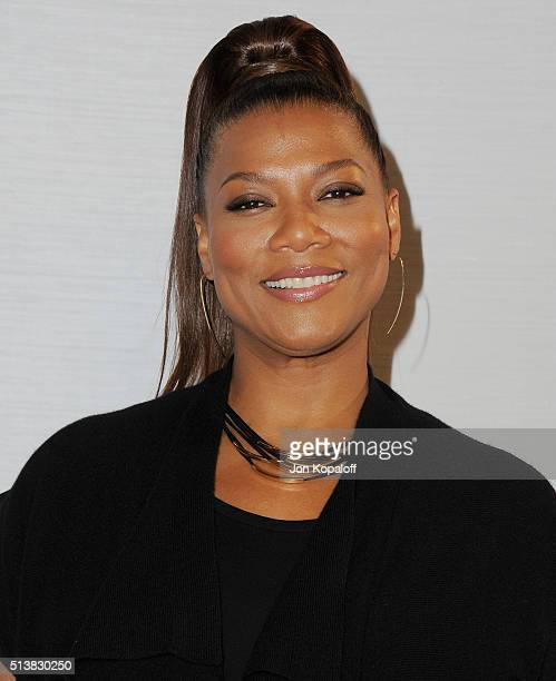 Actress Queen Latifah arrives at Sony Pictures Releasing's 'Miracles From Heaven' Photo Call at The London Hotel on March 4 2016 in West Hollywood...