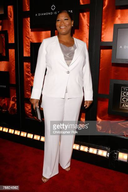Actress Queen Latifah arrives at the 13th ANNUAL CRITICS' CHOICE AWARDS at the Santa Monica Civic Auditorium on January 7, 2008 in Santa Monica,...