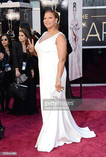 Actress Queen Latifah arrives at the Oscars at Hollywood Highland Center on February 24 2013 in Hollywood California