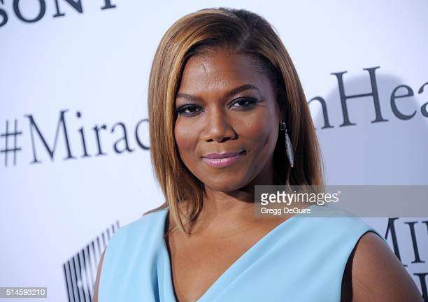 """Actress Queen Latifah arrives at the premiere of Columbia Pictures' """"Miracles From Heaven"""" at ArcLight Hollywood on March 9, 2016 in Hollywood,..."""