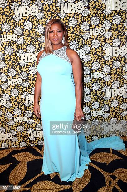 Actress Queen Latifah attends HBO's Post 2016 Golden Globe Awards Party at Circa 55 Restaurant on January 10 2016 in Los Angeles California