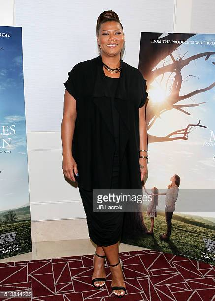 Actress Queen Latifah attends Sony Pictures releasing's 'Miracles From Heaven' photo call on March 4 2016 in West Hollywood California