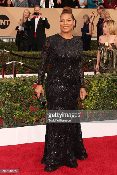 Actress Queen Latifah attends the 22nd Annual Screen Actors Guild Awards at The Shrine Auditorium on January 30, 2016 in Los Angeles, California.