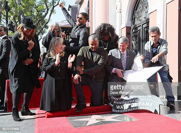 Actress Queen Latifah Lee Daniels' mother Clara Watson Hollywood Chamber of Commerce Chair of the Board Fariba Kalantari actor Jussie Smollett...