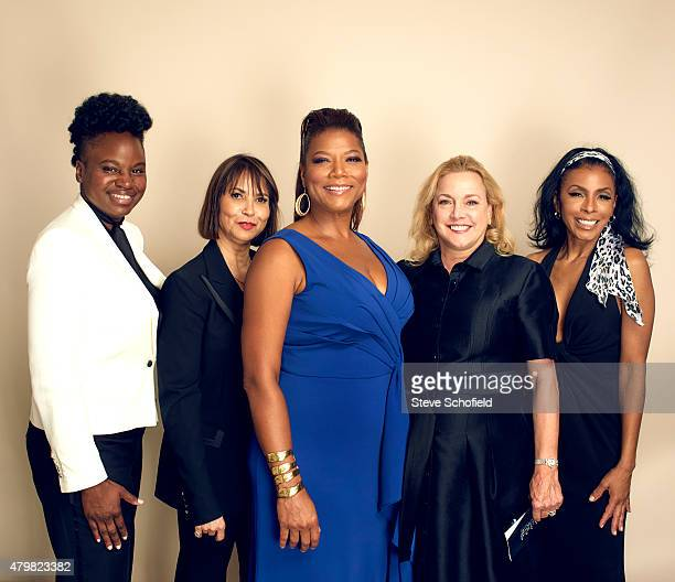 Actress Queen Latifah producers Lili Fini Zanuck Shelby Stone writer/director Dee Rees and actress Khandi Alexander from 'Bessie' pose for a portrait...