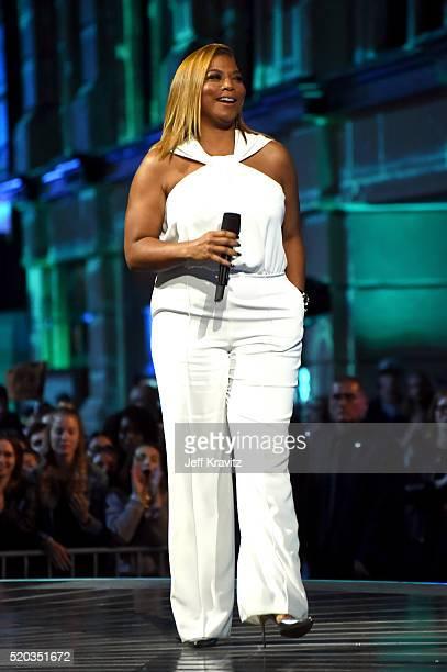 Actress Queen Latifah speaks onstage during the 2016 MTV Movie Awards at Warner Bros Studios on April 9 2016 in Burbank California MTV Movie Awards...