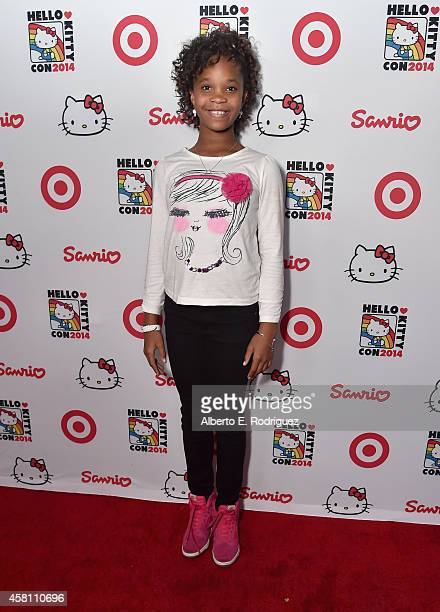 Actress Quvenzehne Wallis arrives to Hello Kitty Con 2014 Opening Night Party Cohosted by Target on October 29 2014 in Los Angeles California