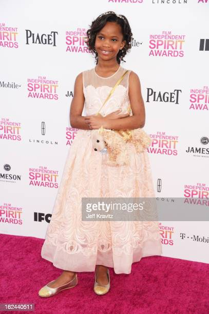 Actress Quvenzhané Wallis attends the 2013 Film Independent Spirit Awards at Santa Monica Beach on February 23 2013 in Santa Monica California
